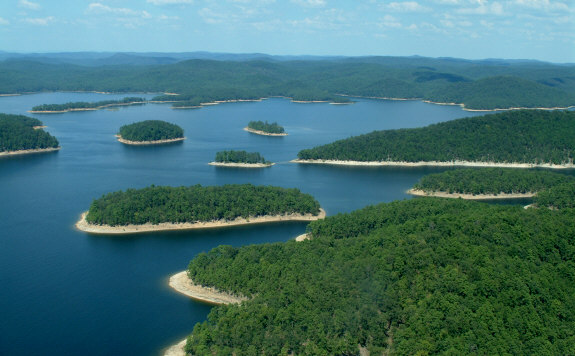 Broken Bow Lake located in Beavers Bend State Park in McCurtain County